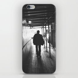 lonely guy silhouette iPhone Skin