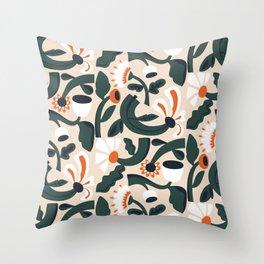 Flower Embrace Throw Pillow