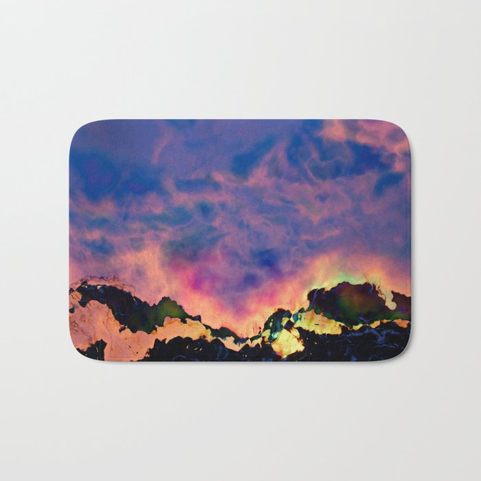The World On Fire Bath Mat