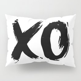 XOXO Hugs and Kisses black and white gift for her girlfriend bedroom art and home room wall decor Pillow Sham