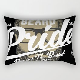 Beard Pride Respect the bear Rectangular Pillow