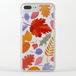 AUTUMN LEAVES,PLEASE Clear iPhone Case