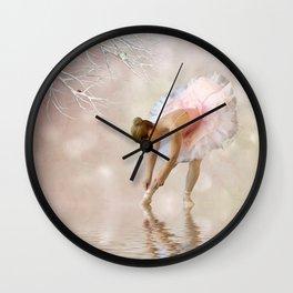 Dancer in Water Wall Clock