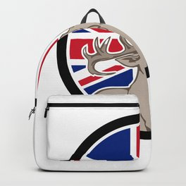 Red Deer Union Jack Flag Icon Backpack