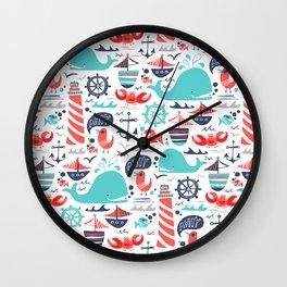 Ahoy Matey Wall Clock