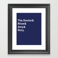 Doctor& Framed Art Print
