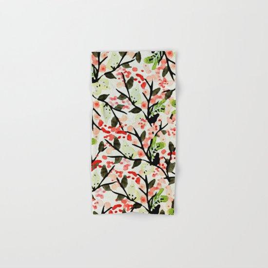Watercolor Nature Pattern #society6 #decor #buyart Hand & Bath Towel