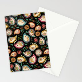 Hedgehog Paisley_Party Colors Stationery Cards