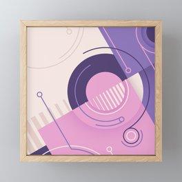 Modern geometric composition pink and blue Framed Mini Art Print