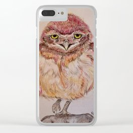 Baby Burrowing Owlet Clear iPhone Case