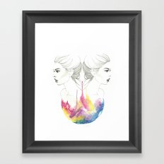 zodiac - gemini Framed Art Print