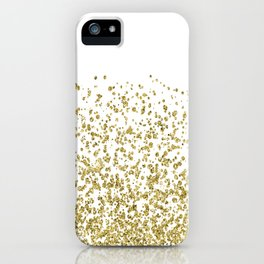Gilded confetti iPhone Case