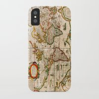 vintage map iPhone & iPod Cases featuring Vintage Map by Diego Tirigall
