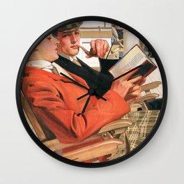 Joseph Christian Leyendecker - Two On The Deck Chair - Digital Remastered Edition Wall Clock