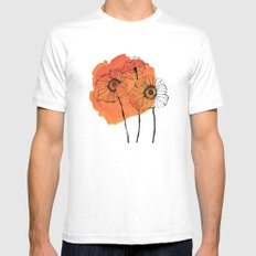 poppies MEDIUM Mens Fitted Tee White