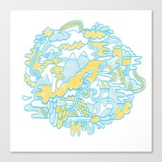 Spaghetti Mountain Canvas Print