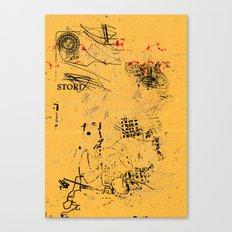 erased 4 Canvas Print