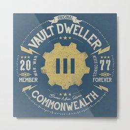 Vault 111 Member Forever Metal Print