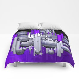 deco violet-white-black -1- Comforters