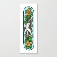 skateboard Canvas Prints featuring Skateboard by rayeliann