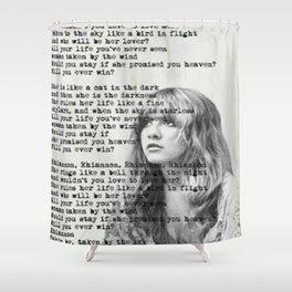 Stevie Nicks Rhiannon Shower Curtain