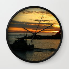 The End Of A Beautiful Day Wall Clock
