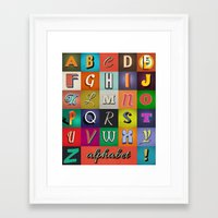 alphabet Framed Art Prints featuring Alphabet by rob art | simple