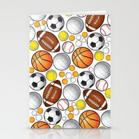sport Stationery Cards featuring Sport Balls by Martina Marzullo Art