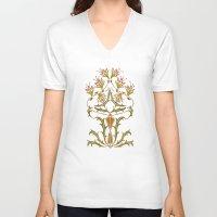 art nouveau V-neck T-shirts featuring art nouveau by Ariadne