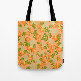 Hawaiian Pattern - Orange Tote Bag