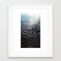 ombre Framed Art Prints featuring Ombre by Amy Muir