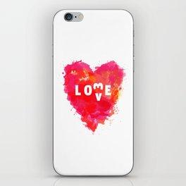 Love is like... iPhone Skin