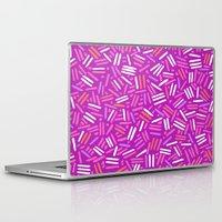 confetti Laptop & iPad Skins featuring confetti  by Ariadne