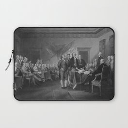 Signing The Declaration of Independence Laptop Sleeve