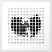 emoji Art Prints featuring Random emoji by mister_furious