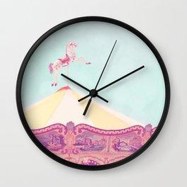 Carousel Dream Mint Wall Clock