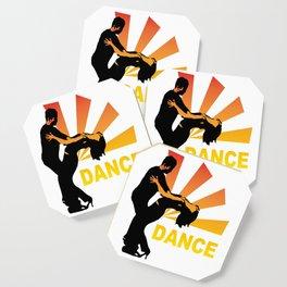 dancing couple silhouette - brazilian zouk Coaster