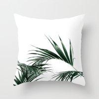 palms Throw Pillows featuring Palms by Rachel De Vita
