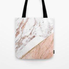 Marble rose gold blended Tote Bag