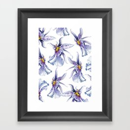 GLOWY ORCHIDS Framed Art Print