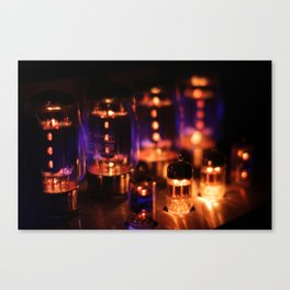 Glowing amp tubes Canvas Print