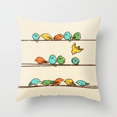 Hanging Out (multi-colored option) Throw Pillow