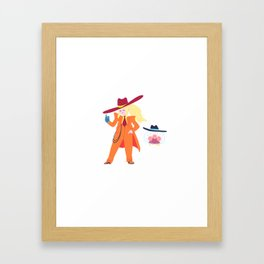 Zoot Suit Samus Framed Art Print