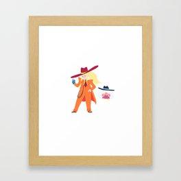 Zoot Suit Samus Framed Art Print