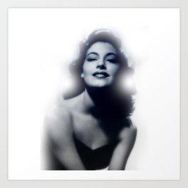 Ava Gardner Glow Art Print