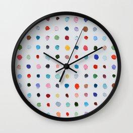 Infinite Polka Daubs Wall Clock