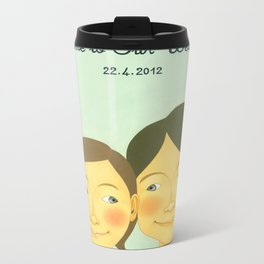 S&K Happy Wedding !! Metal Travel Mug