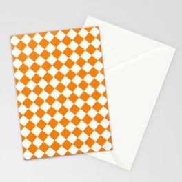 Diamonds - White and Orange Stationery Cards