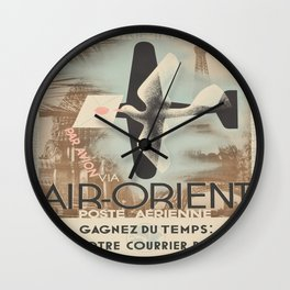 Vintage poster - Air-Orient Wall Clock