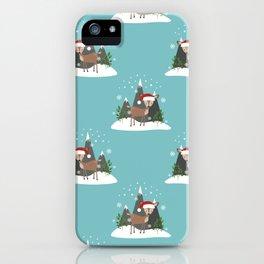 Christmas Deers iPhone Case